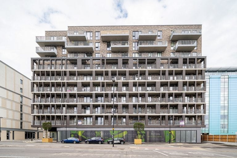 exterior architectural photo of apartments in london