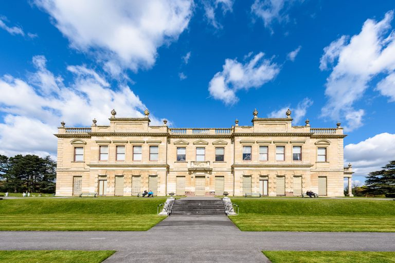 exterior photo of brodsworth hall in doncaster