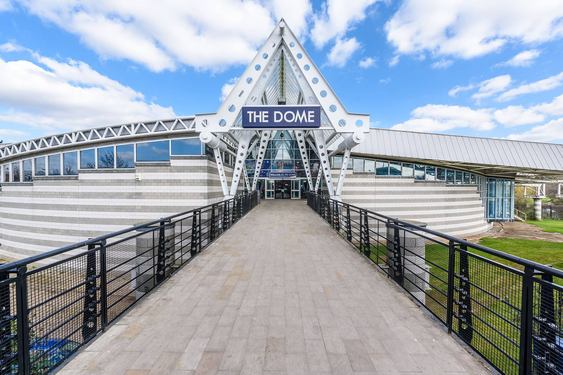exterior photo of the dome leisure centre in doncaster