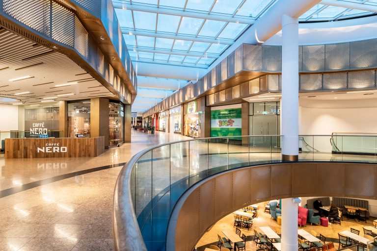 interior of Meadowhall shopping centre by Interior photographer Ben Harrison photography