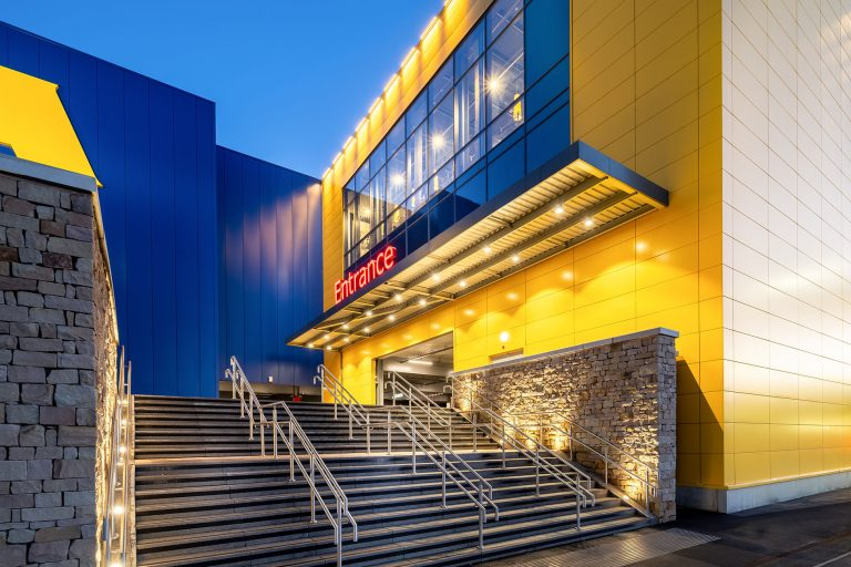 photo of IKEA exterior to show the architecture