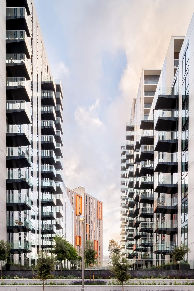 high rise apartments in london, architectural photography ben harrison photography