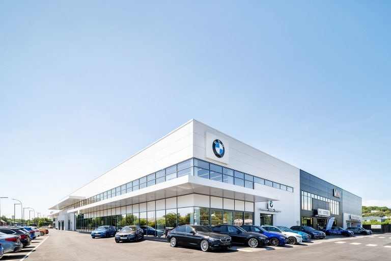 BMW dealership photo by architectural photographer ben harrison photography