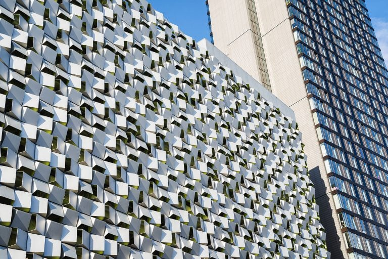 photo of a carpark in Sheffield, exterior architectural photo