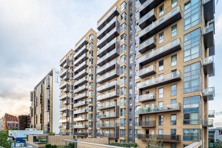high rise apartments in london exterior photo by architectural photographer ben harrison photography