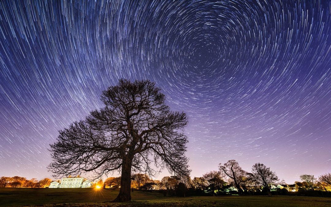 Star trails photography in South Yorkshire