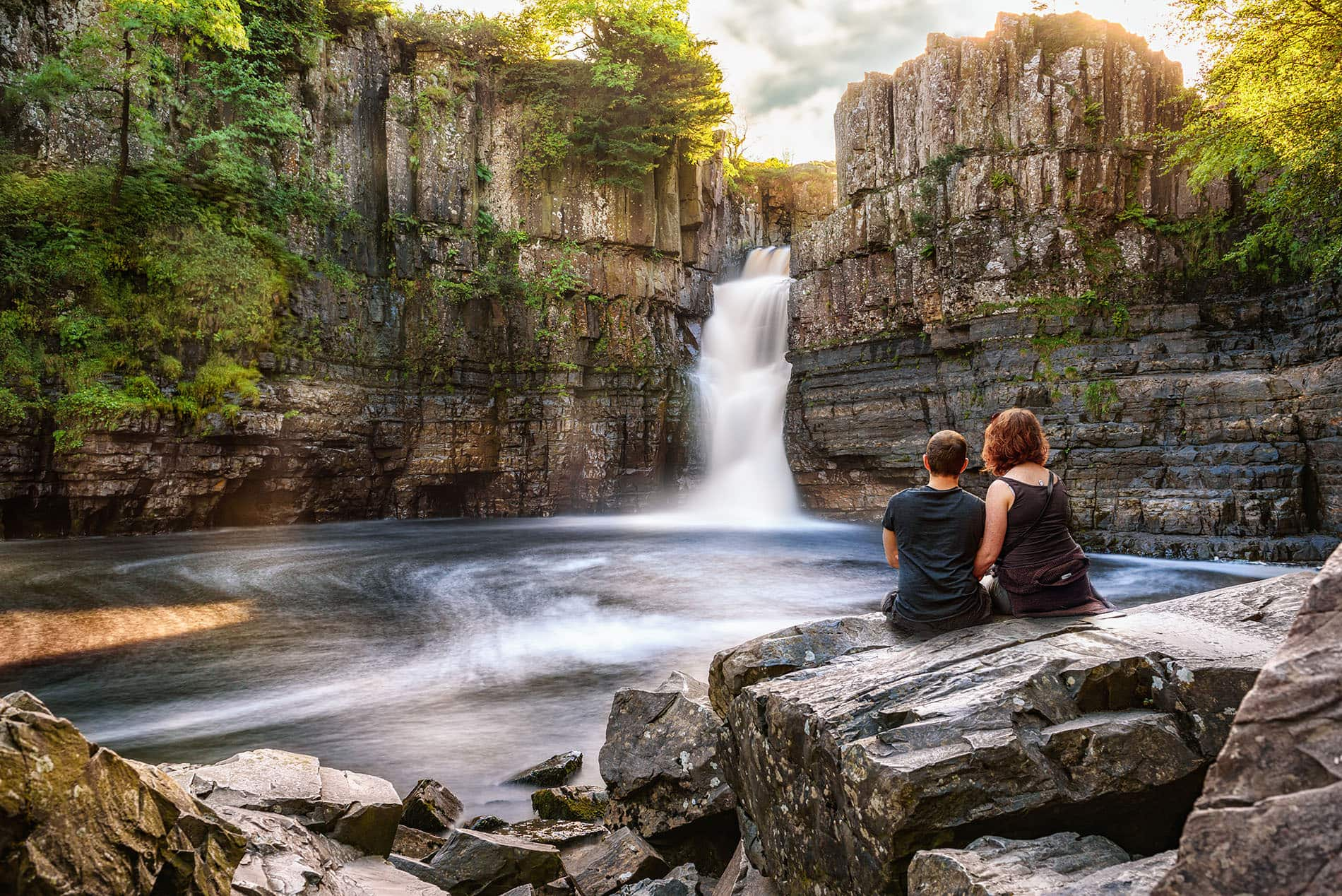 best photo of high force waterfall in Teasdale