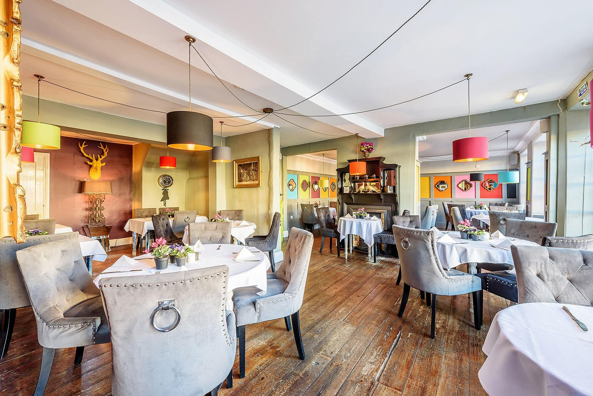 interior photography of the town house bawtry restaurant area