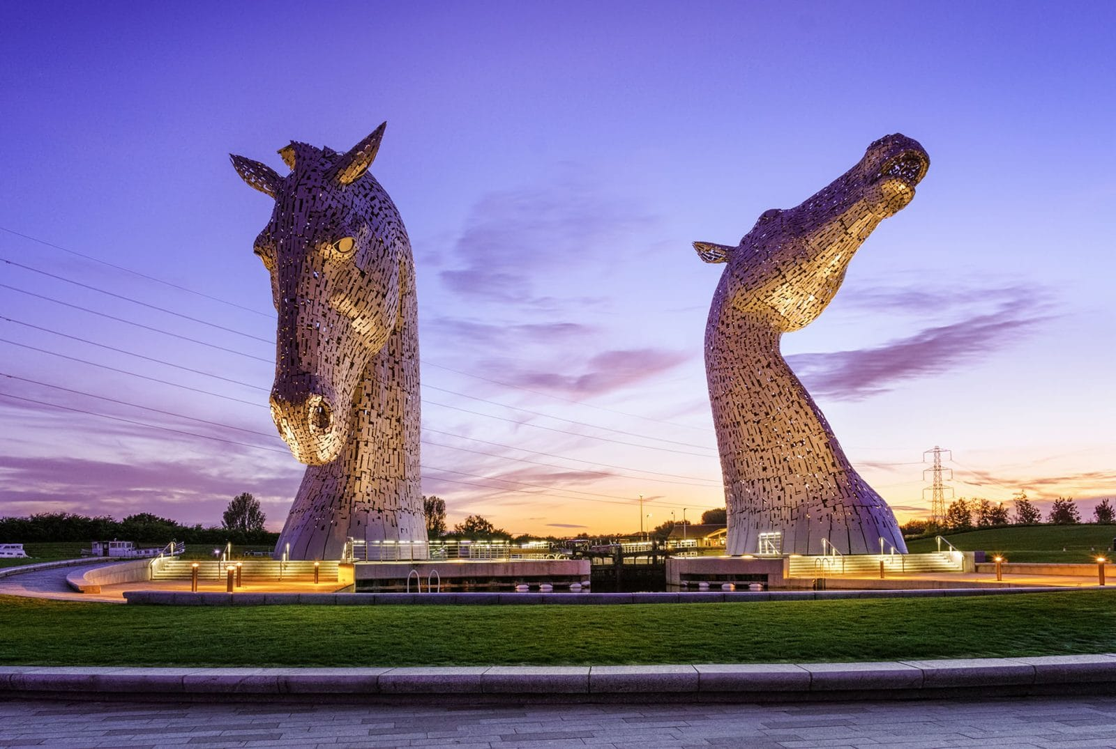 The Kelpies at sunset - Fine art print