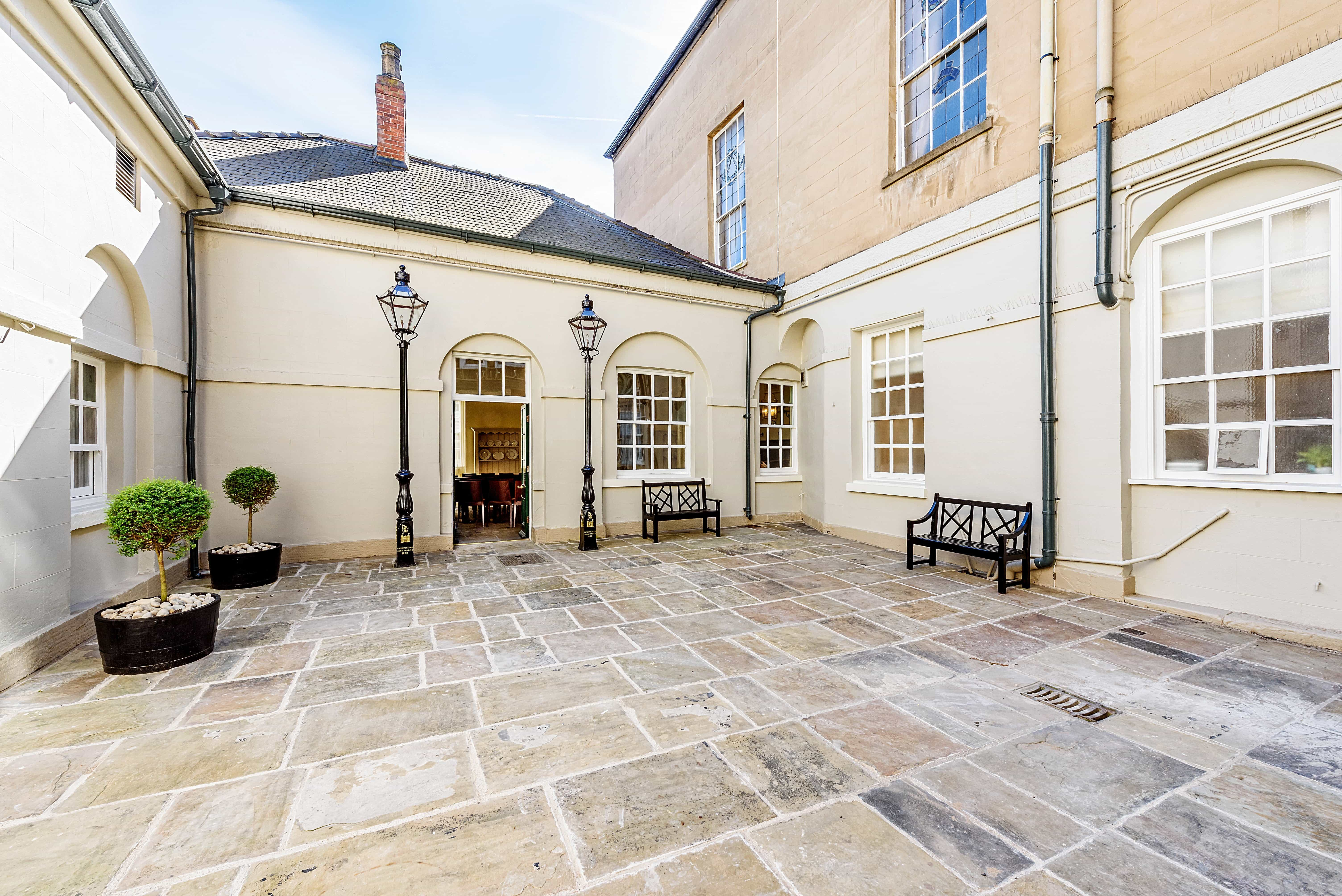 outdoor area at the doncaster mansion house