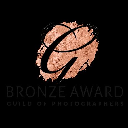 the guild of photographers bronze award logo