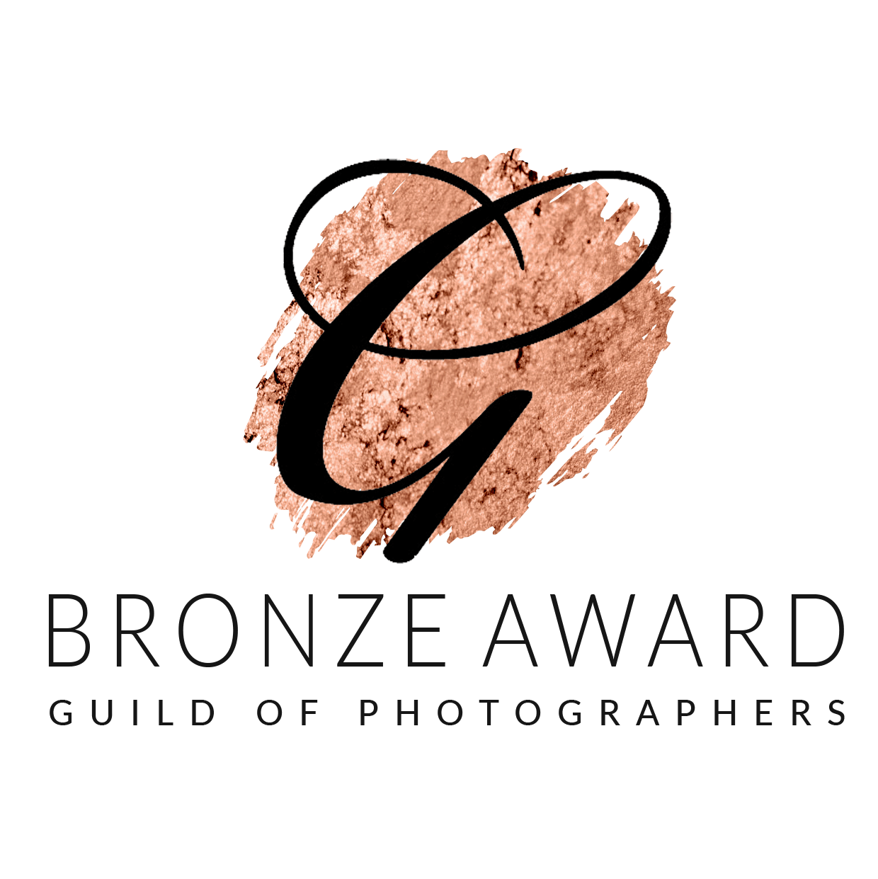 the guild of photographers bronze award logo