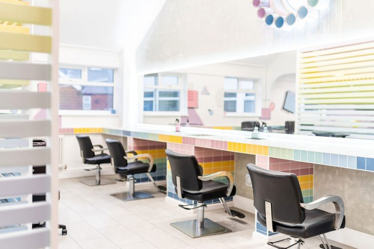 interior photography of rare hair and beauty doncaster
