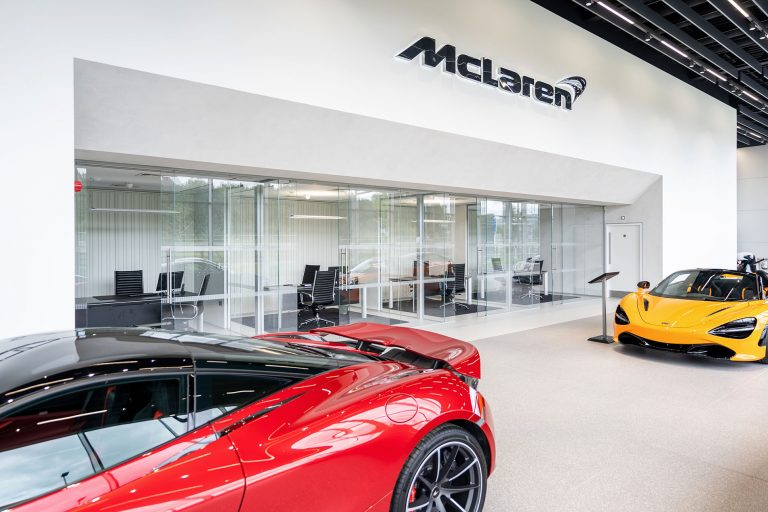 photo of mclaren garage manchester