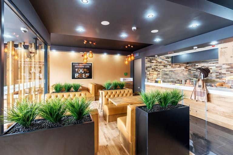 interior photo of posh burgers doncaster by doncaster photographer