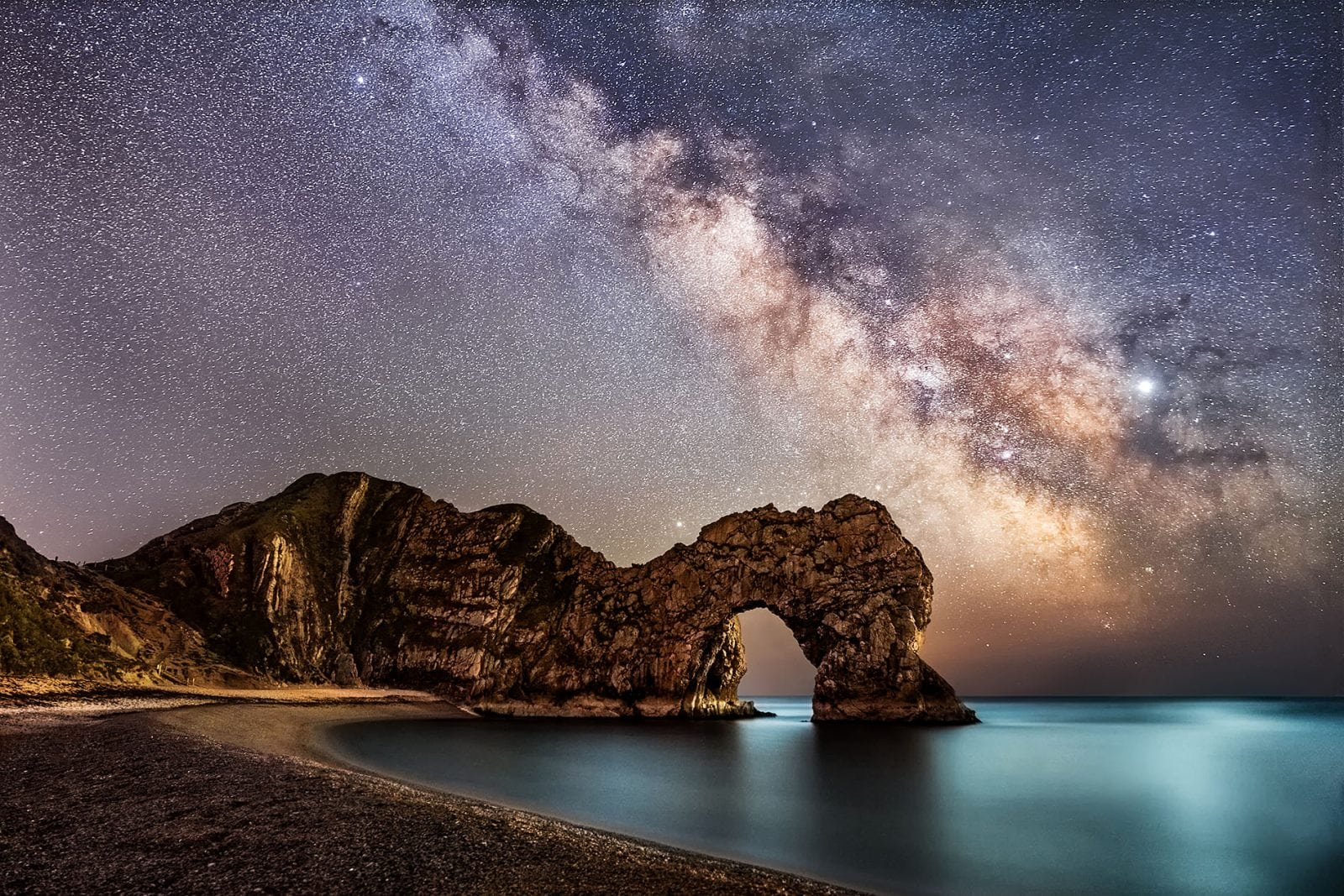 milkyway over durdle door images
