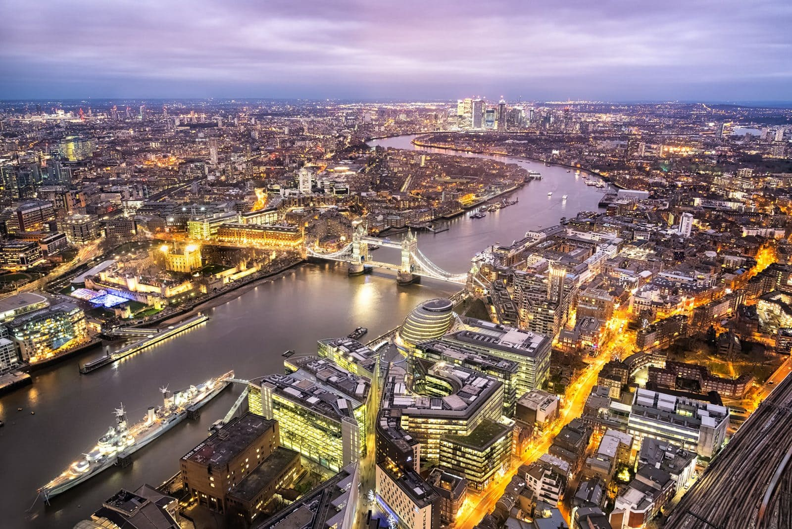 The best view from the Shard in London