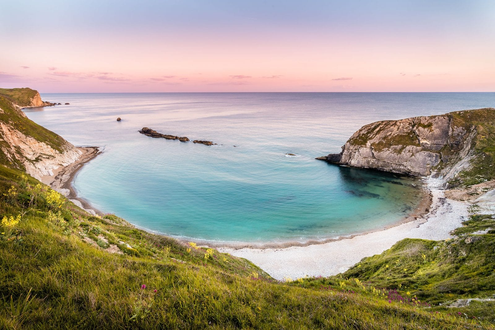 Lulworth cove Dorset sunset - Fine art print