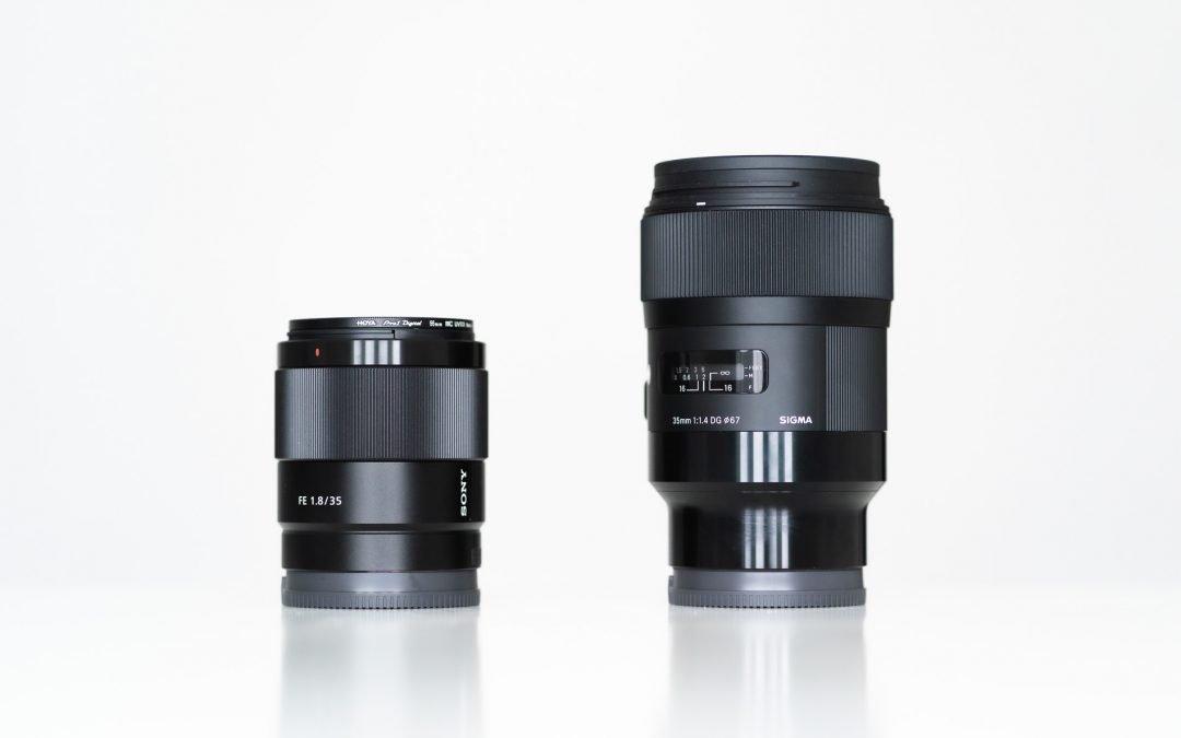 Sigma art 35mm f1.4 vs Sony 35mm FE f1.8